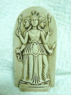 PAGAN/WICCAN HECATE GODDESS STATUE 7 Natural wash GYPSUM STONE