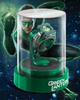 Green Lantern Prop Replica Power Ring and Presentation Display Box