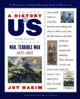 War, 1855 1865 Bk. 6 by Joy Hakim 2002, Hardcover, Revised