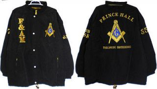 Prince Hall Mason F&AM Mens All Weather Windbreaker Jacket