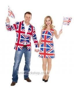 Union Jack Jacket With Pockets British Flag Patriotic Design Brand New