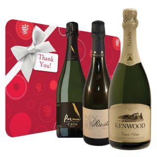 Thank You Sparkling Wine Trio Gift Set