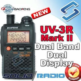 UV 3R Mark 2 dual band display ham 2way portable radio transceiver 3R