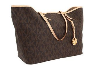 New Michael Kors Jet Set Travel Logo Medium Tote 30H1GTVT2B Brown