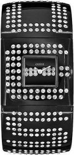 Guess Womens W11508L1 Black Fashion Watch w/Charm Design