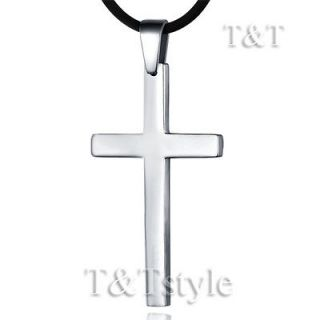 Black Cross Men Stainless Steel Pendant Necklace LP11 782