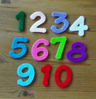 Felt Die Cuts   Numbers 1 24   Applique   Advents Calendar   Birthday