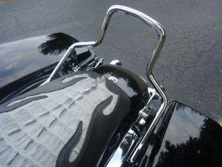 Harley Detachable Passenger Sissy Bar Upright Short Chrome 52610 09