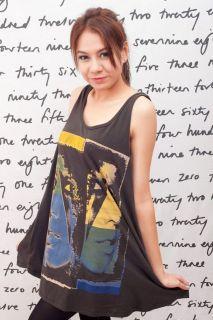 Lady GaGa Lightning Bolt POP Sexy WOMEN T SHIRT DRESS Tank TOP Tunic