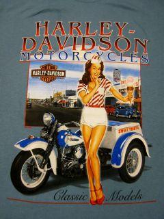 nwt Mens HARLEY DAVIDSON ** Ice Cream PIN UP Servicar Trike** T SHIRT