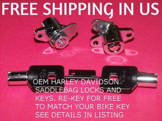 HARLEY DAVIDSON 93 & UP SADDLEBAG LOCKS & KEYS ELECTRA GLIDE ROAD FLH