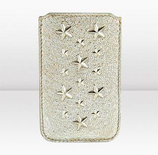 Jimmy Choo  Trent  Champagne Glitter Leather iphone Case  JIMMYCHOO