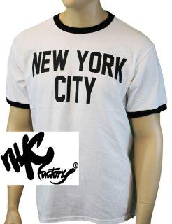 John Lennon Ringer Black and White New York City T Shirt The Beatles S
