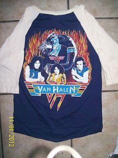 Van Halen 1979 concert tour original jersey t shirt vintage size
