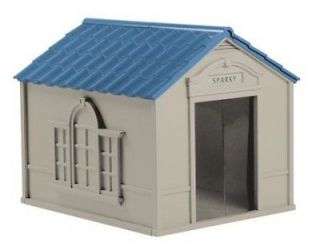 Durable Resin All Weather X Large Outdoor Pet Dog House 2Days Ship