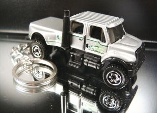 Silver International CXT Pickup Truck 4X4 Keychain Key Ring Fob