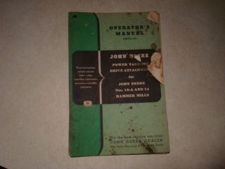 JOHN DEERE PTO HAMMER MILLS OPERATORS MANUAL SC37A
