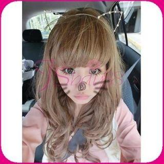 Cat Ear Rhinestone Headband Hair Band Headwear Hair Band Cute Prop