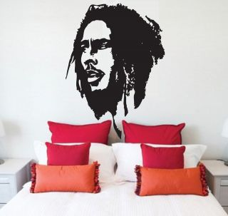 BOB MARLEY FACE VINYL WALL DECAL HOME DECOR STICKER FOR LIVING ROOM