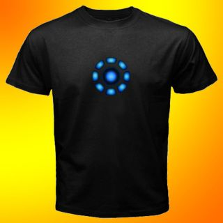 The Avengers Tony Stark Arc Reactor Iron Man T Shirt SIZE S,M,L,XL