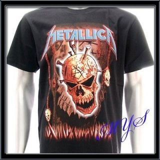 shirt Heavy Metal Rock Rider Skull Men Music Tour Hard Punk