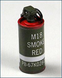 Hot Toys Navy Seal Vietnam M18 smoke grenade red 1/6 scale toy