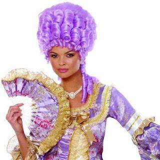 Marie Antoinette Adult Halloween Costume Wig Purple Lilac Lavender
