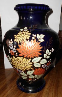 Bareuther Waldsassen Echt Kobalt Large 13 Floral design vase
