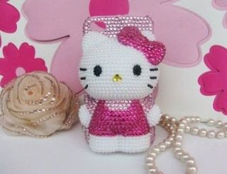 Bling Black Hello Kitty BOW for cell Phone iPhone5 5G Case Cover NEW