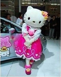 Adult Size Hello Kitty Mascot Cartoon Clothing Costume Fancy Wedding