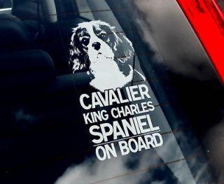 Charles Spaniel   Dog Car Window Sticker   Sign   n.Harness/Collar