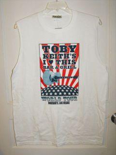 NWT TOBY KEITH World Tour Harrahs Las Vegas Muscle Sleeveless Shirt