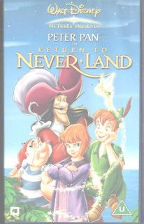 PETER PAN IN RETURN TO NEVERLAND VIDEO VHS PAL UK WALT DISNEY CLASSICS