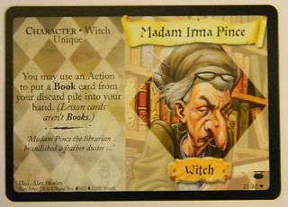 Harry Potter Trading Card Game TCG Diagon Alley Madam Irma Pince 21/80