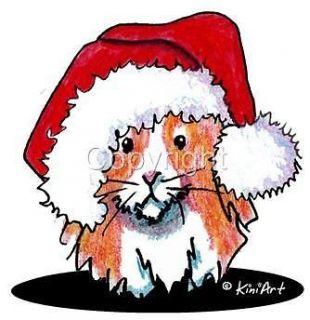 Guinea Pig Santa Tshirt Nightshirt 7637 Holiday Christmas