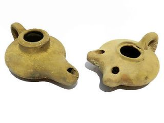 Oil lamps Holy Land Ancient Roman Herodian Clay Pottery Terracota