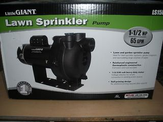 NEW!!!! Little Giant LS 15P Lawn Sprinkler Pump 1.5HP Irrigation Pump