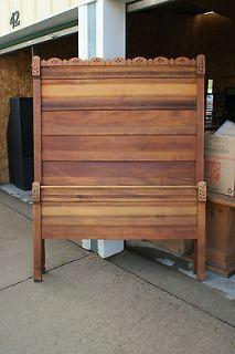 Old Antique Solid Wood 3 Piece Furniture Bedroom Set 1 Bed 2 Dressers