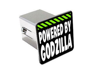 Powered By Godzilla 2 Chrome Tow Trailer Hitch Cover Plug Insert