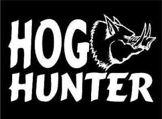 Hog Hunter w/hog wild boar pig car window laptop trailer decal sticker