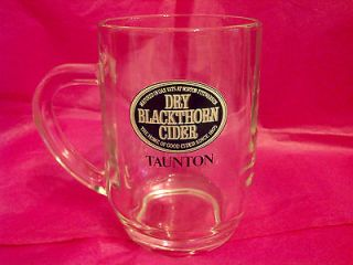 VINTAGE CLASSIC DRY BLACKTHORN CIDER HALF PINT GLASS TANKARD   PUB