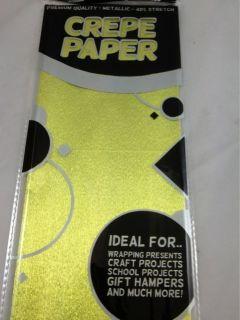 Metallic Crepe Paper 1 Sheets 50x100cm Premium 40% StretchCR382