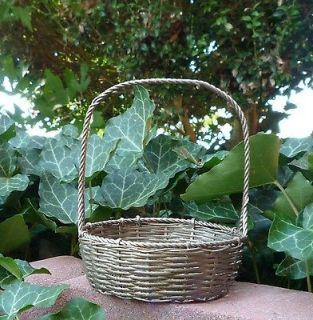 Beautiful Small Vintage Silver Wire Egg Basket