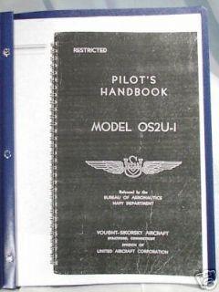 WW 2 USN OS2U 1 Kingfisher Pilots Handbook