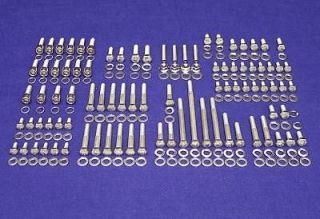 FORD SMALL BLOCK 260 302 STAINLESS STEEL ENGINE HEX BOLT KIT