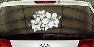 Hibiscus Flower Vinyl Decal Sticker Car Vehicle Bumper Window Sticker