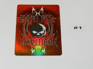 HARLEY DAVIDSON WINDOW DECAL(AS PICTURED)$2.95 SHIPPING ON 1st HARLEY