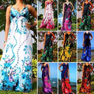 NEW Floral Evening Summer Sexy Women Long Maxi Dress Plus Size Sz M