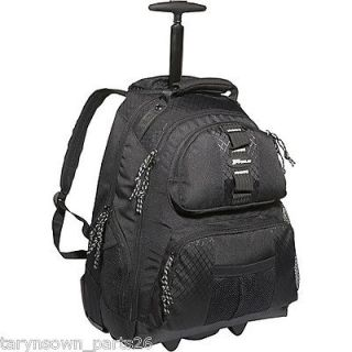 Targus Black Rolling Notebook Backpack, For Laptops Up To 15.4, #
