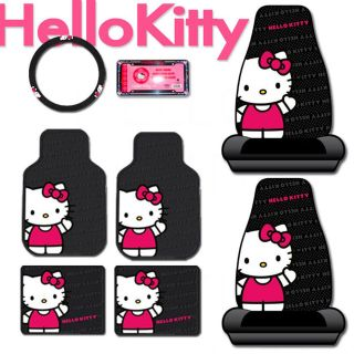 New Hello Kitty Core Auto Car Front Seat Cover Floor Mat Accessories